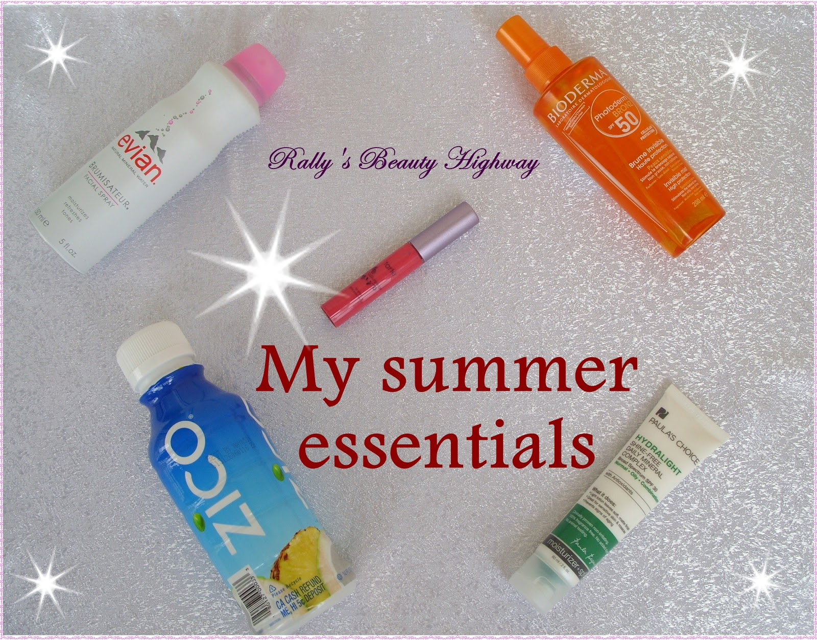 Summer essentials, cosmetics