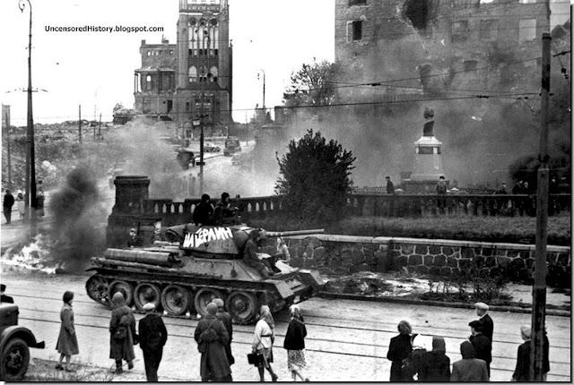 Red Army tank  street  Konigsberg  1945