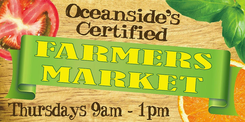 Farmers Market Every Thursday 9-1PM  www.tanyourhideinoceanside,com