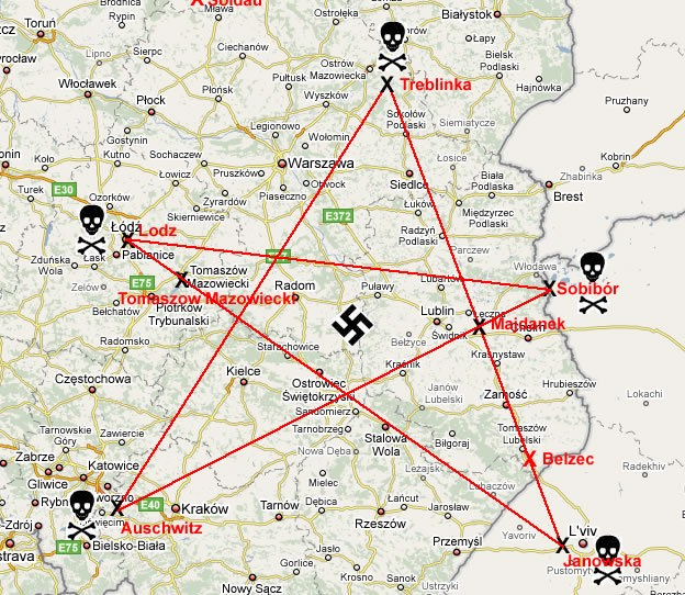 The Awakening Youth الصحوة للشباب Illuminati Signs Symbols - Pentagram on us map