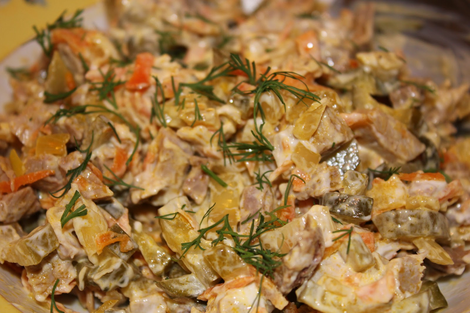 Рецепт салата обжорка с пошаговым фото