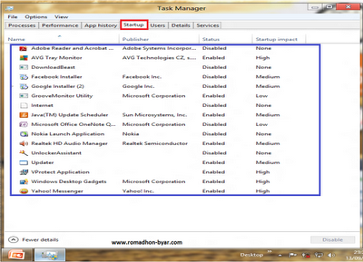 Cara mempercepat Startup Windows 8 (tutorial)