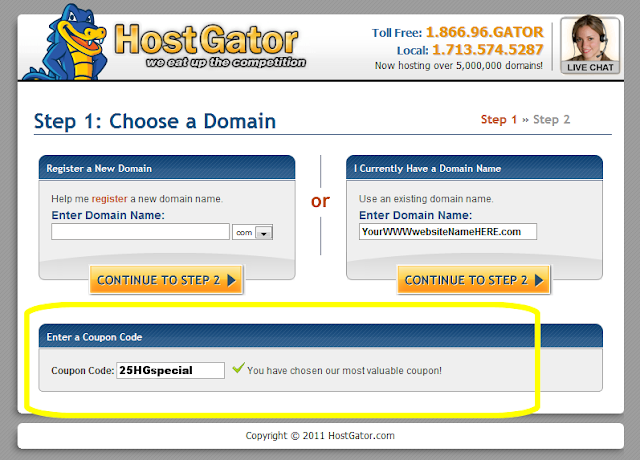 HostGator coupon tutorial 4