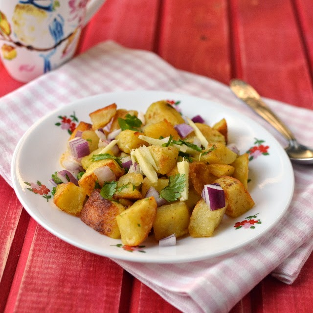 Delhi -- Aloo Chaat recipe (Baked version)
