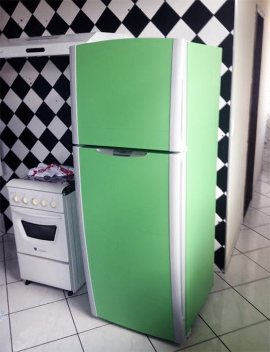 geladeira vintage, refrigerator vynil, vinil de geladeira, geladeira colorida
