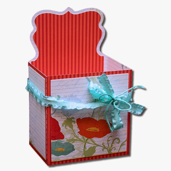 Decorative Cardboard Boxes For Gifts : Bits of paper decorative gift boxes