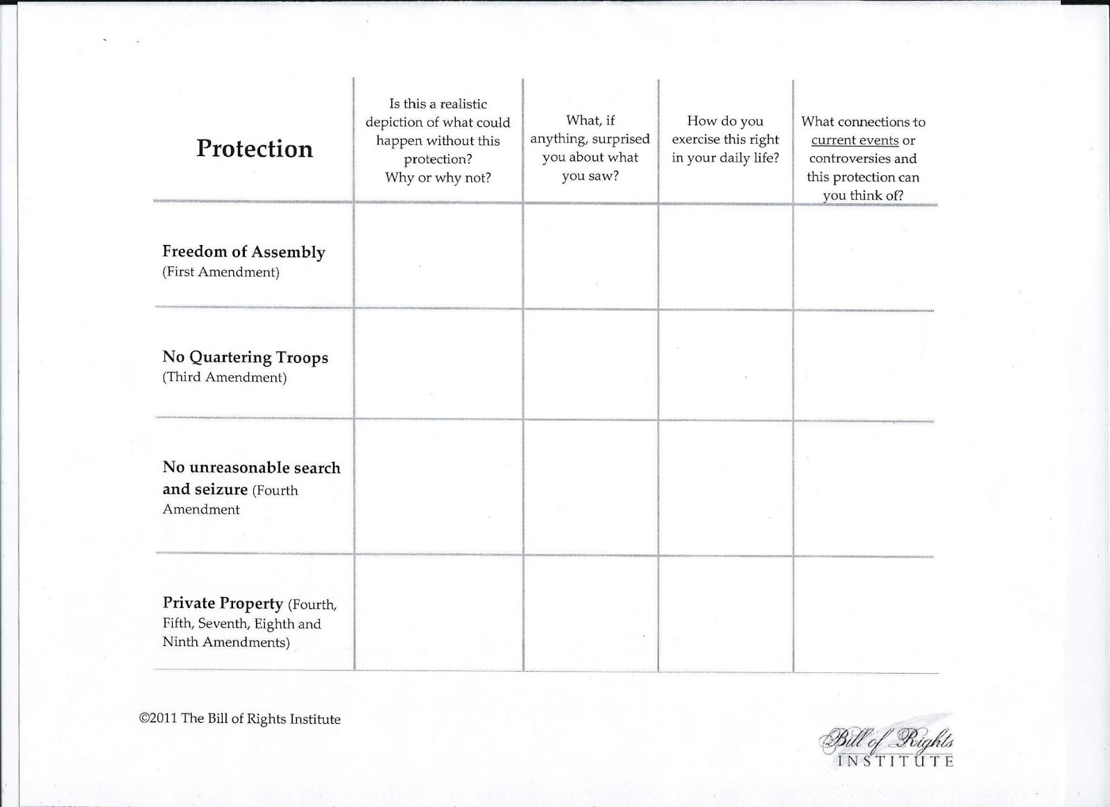 Uncategorized Bill Of Rights Worksheets gms 6th grade social studies september 2013 students will be filling out the charts seen below as always these worksheets can found in government link section at top of blog