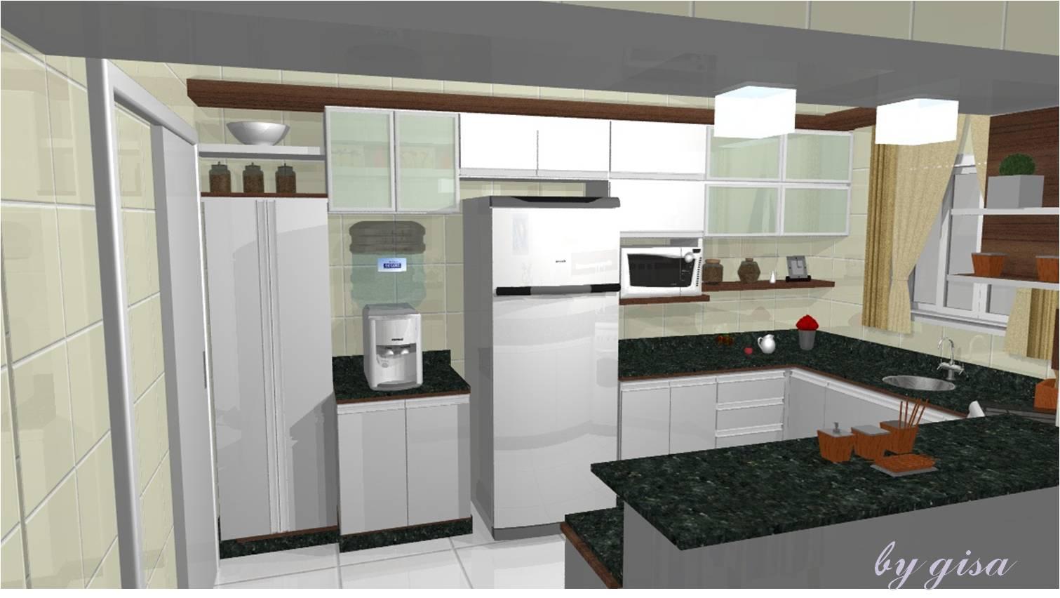 Projeto Feito Sonho Realizado: Cozinha pra que te quero!!! #633D28 1511 852