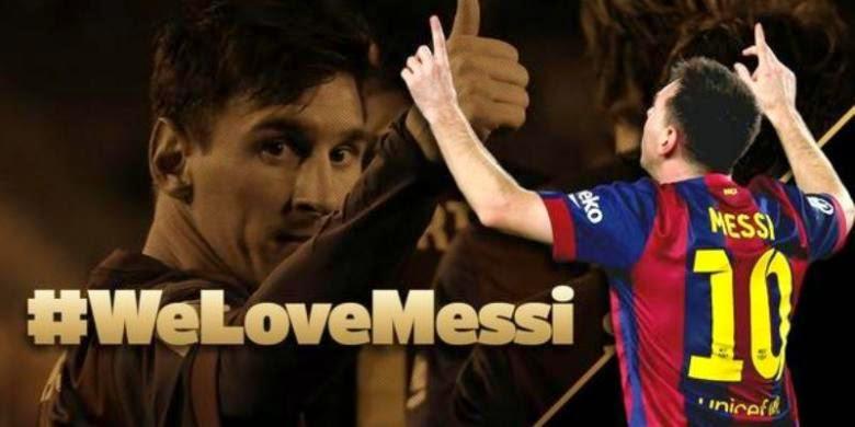 Poker Online : We Love Messi, Dukungan Barcelona untuk Messi yang Sedang Galau