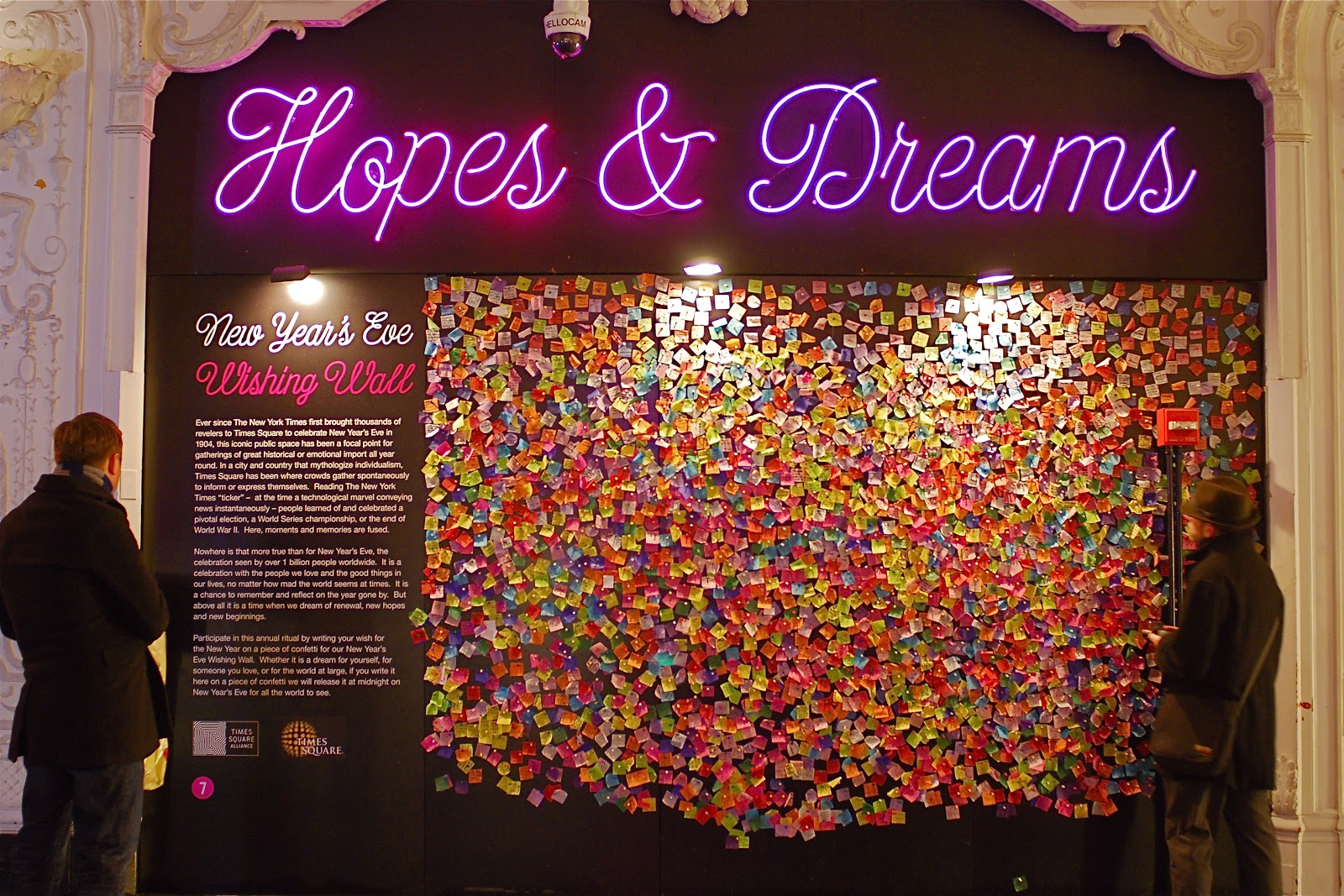 NYC NYCWorlds New Years Eve Wishing Wall and the Times