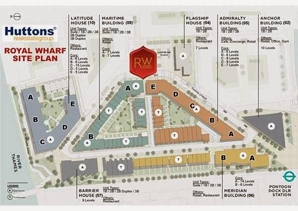 Royal Wharf Siteplan