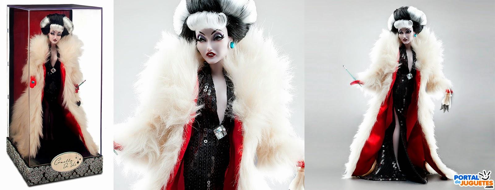 muñeca cruella de vil villanas disney