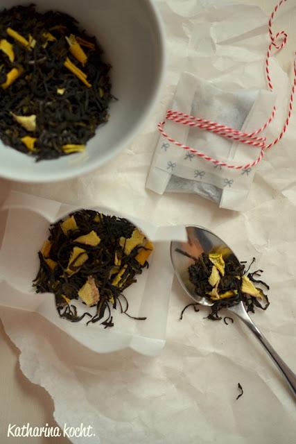 Selbstgemischt: Orangen- & Zitronen-Ingwer-Tee auf www.katharinakocht.com