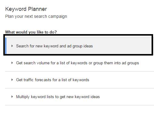 Cara Riset Keyword Menggunakan Adword Keyword Tool