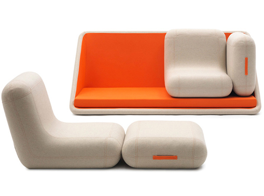 Matali Crasset modular sofa for Campeggi
