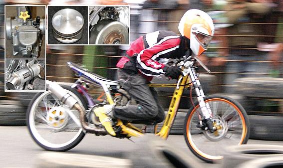 modifikasi mio drag 200cc terkeren