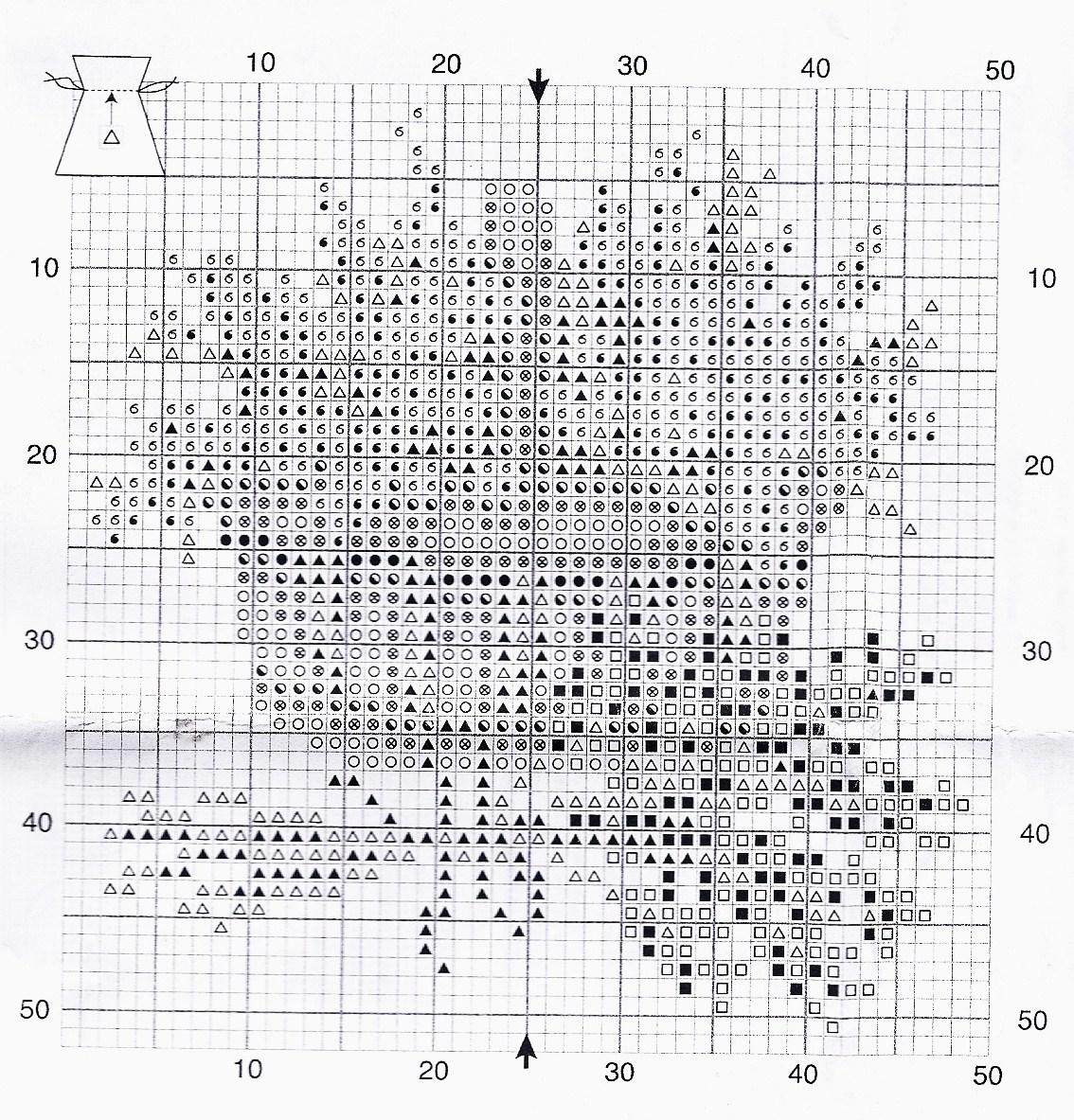 схема вышивки викториан лаванда