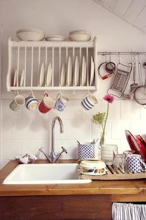 shabby chic kitchen detail