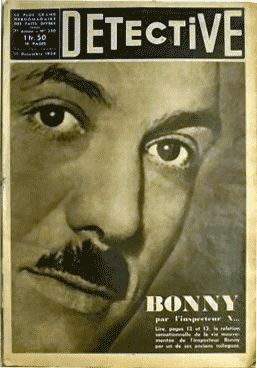 Pierre Bony sur vieux journal Détective