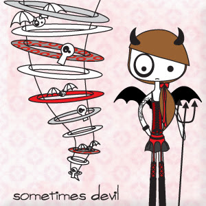 ilustración sometimes devil (100% handmade with ♥)