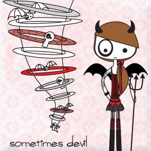 ilustración sometimes devil (100% handmade with ♥)