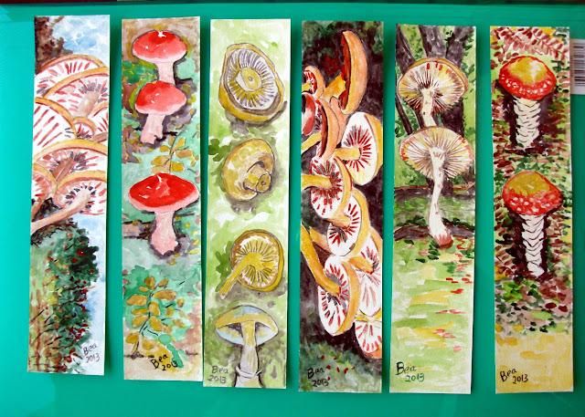 Marcadores de Livros 123 Cogumelos