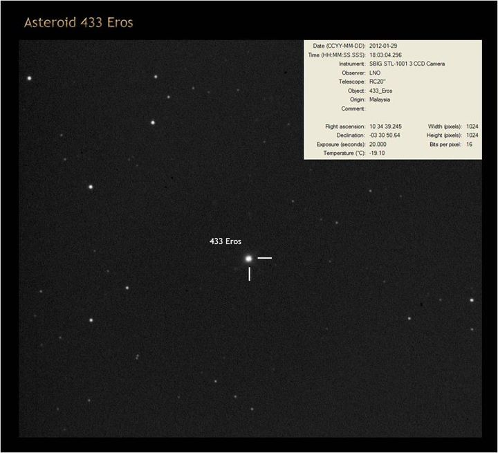 NEAR Eros approach images and animations  NASA