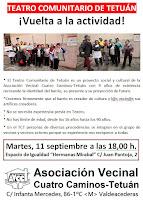 Teatro Comunitario de Tetuán ¡Vuelta a la actividad!