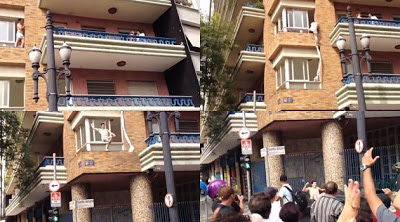 Video Lucu! Kedapatan Selingkuh Kabur lewat Jendela di Bantu Petugas Pemadam
