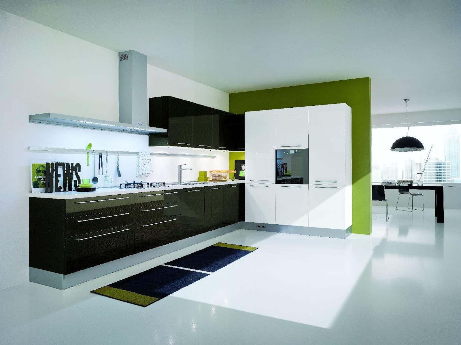 Cuisine design bois et blanc for Cuisiniste designer