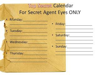 Top Secret Agent Calendar