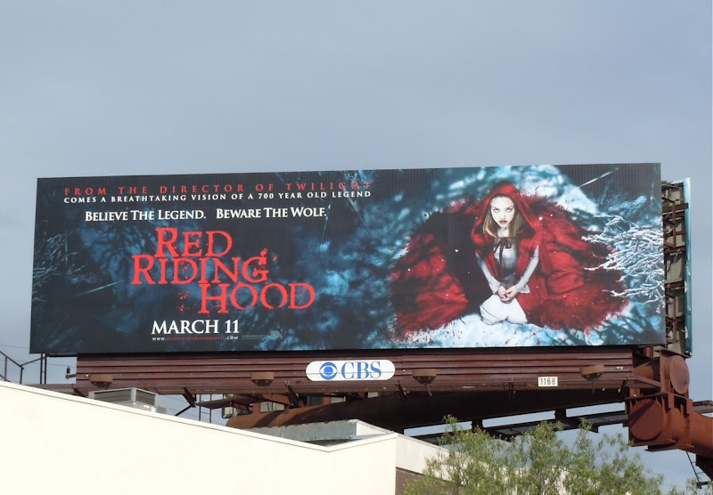 Amanda Seyfried Red Riding Hood billboard