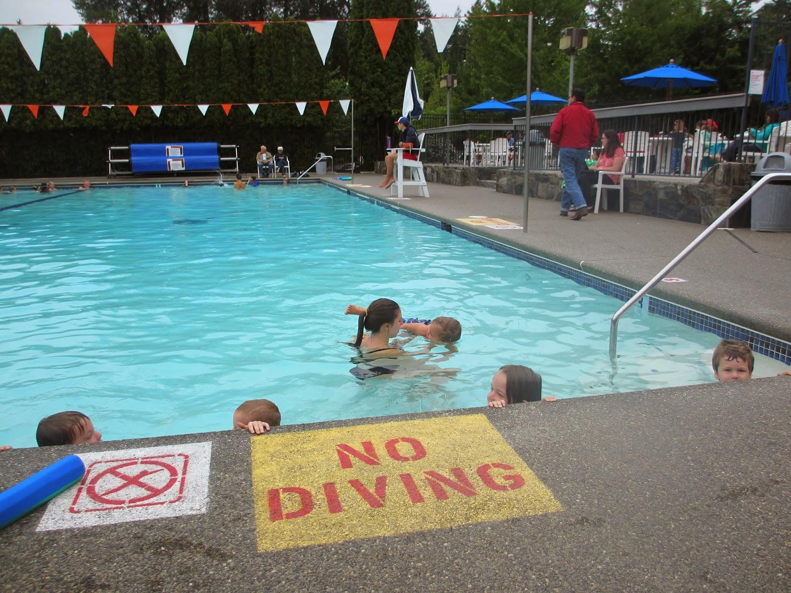 Tree Peeps Swim Class At Cottage Lake Pool