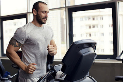 image of a man on a treadmill.