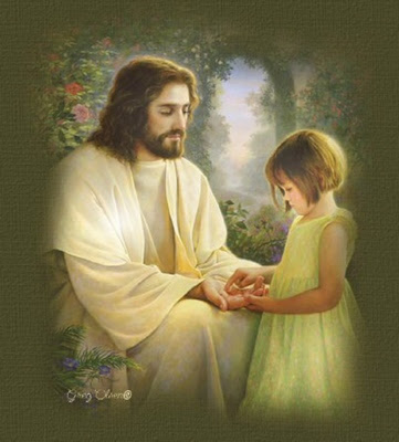 Picture of Lord Jesus Christ with a child