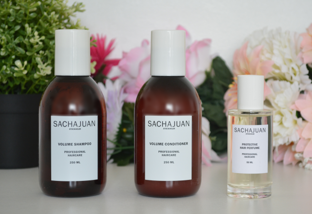 Sachajuan volume shampoo and conditioner, Sachajuan protective hair perfume, Sachajuan, Review
