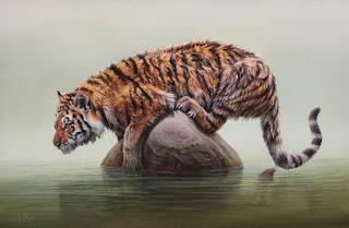 Hiperrealismo Tigre Cuadros de Animales