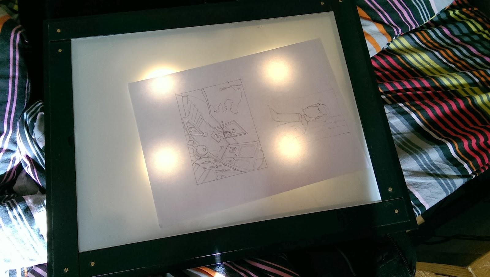 la menuiserie 503 une tablette dessin lumineuse partir d 39 un cadre photo. Black Bedroom Furniture Sets. Home Design Ideas