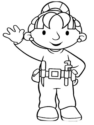 Bob The Builder Coloring Sheet