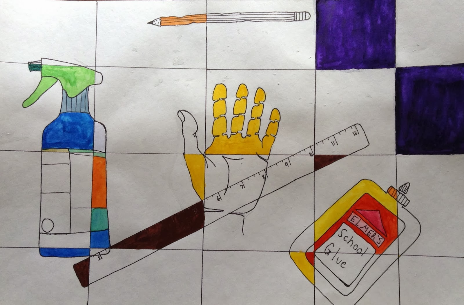 Contour Line Drawing With Color : Minnesota monster art contour line drawing water color