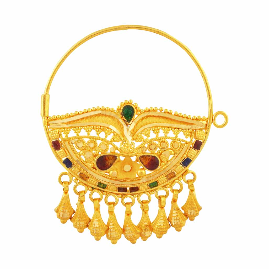 latest Gold nath/nose rings collection - Latest Jewellery Designs