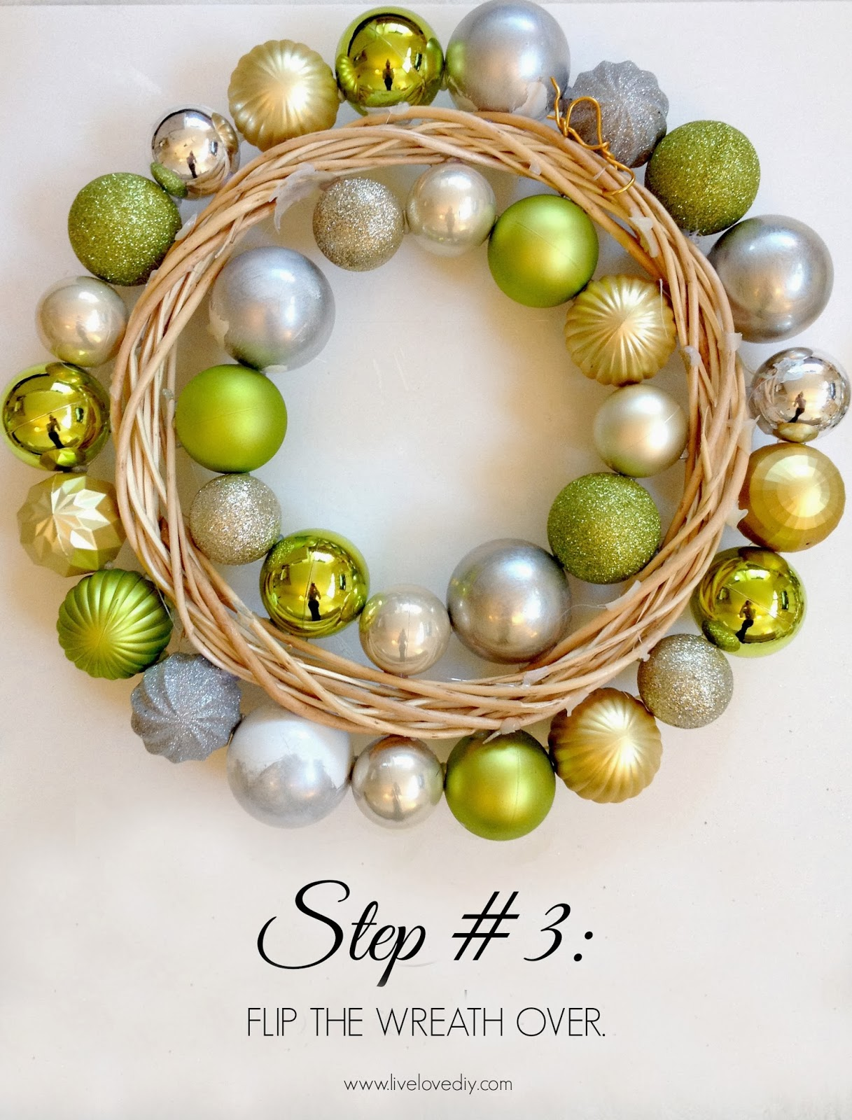 Livelovediy how to make a christmas ornament wreath