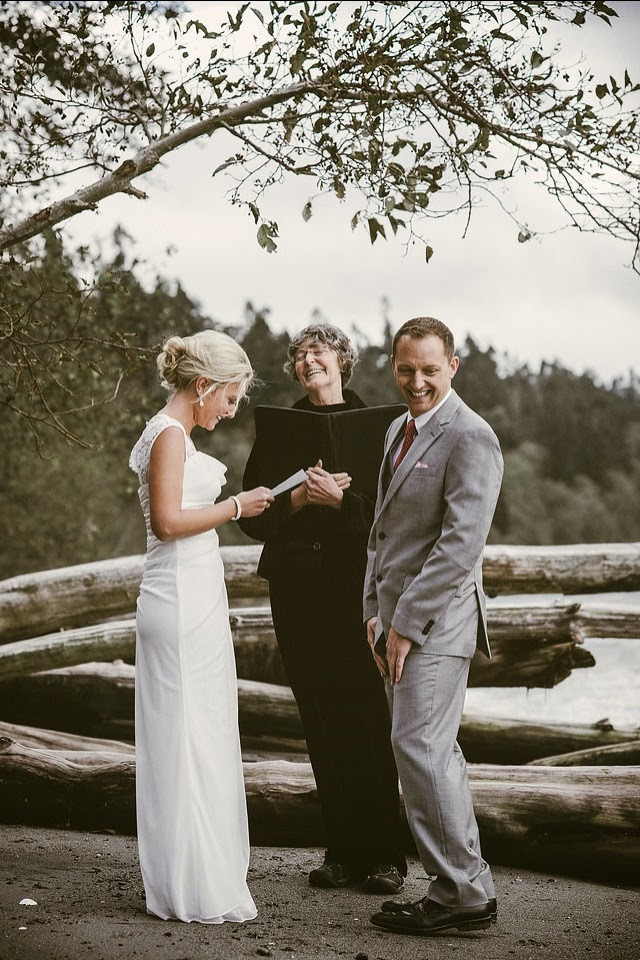 South Whidbey State Park private wedding of Kate and Robert - Patricia Stimac, Seattle Wedding Officiant
