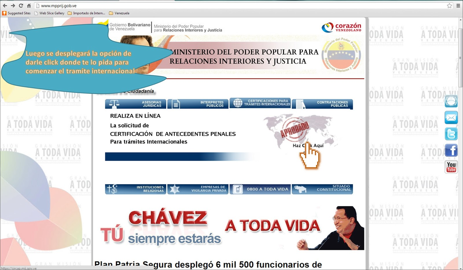 Lulus dream spot d como solicitar antecedentes penales a for Pagina del ministerio de interior y justicia