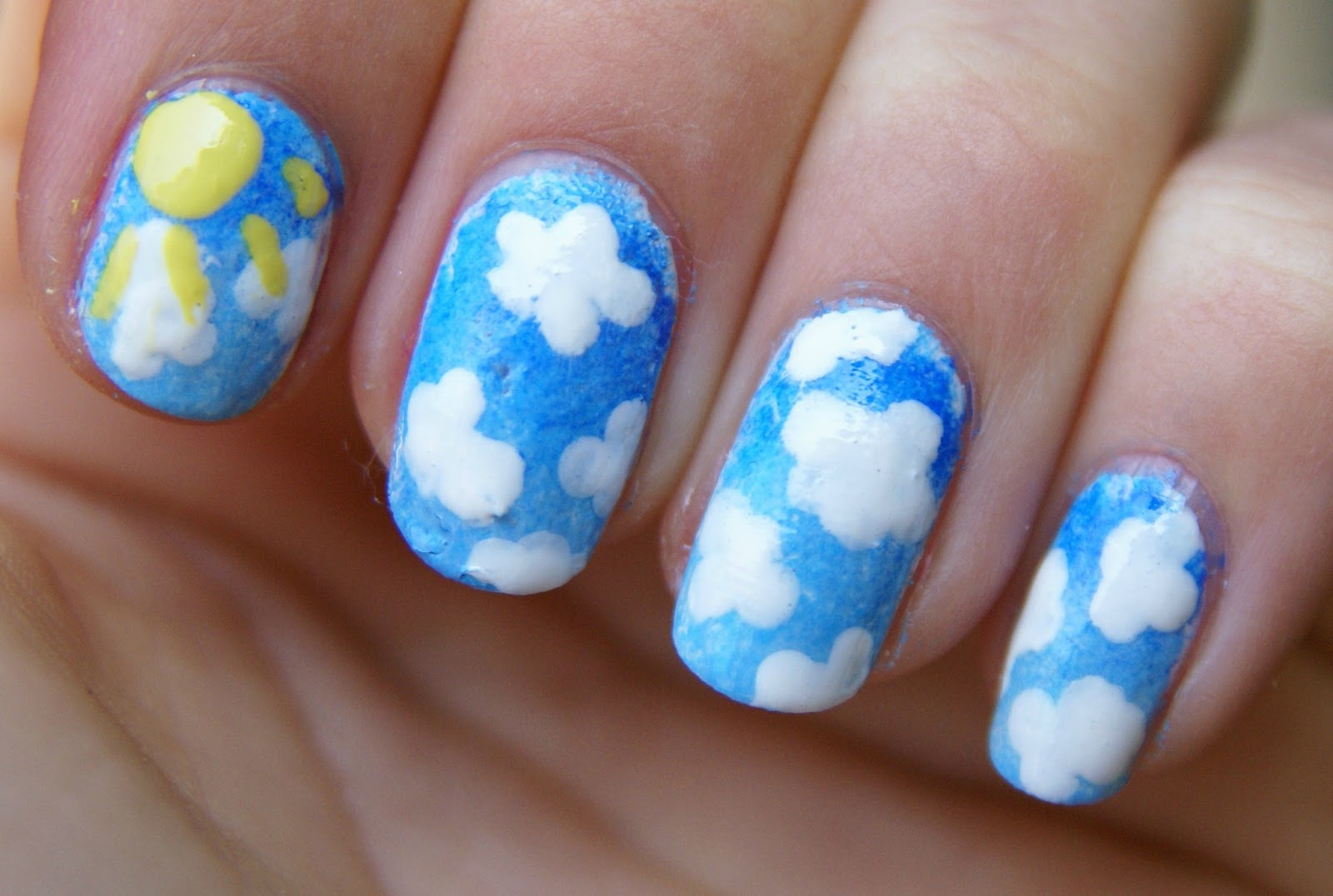 Piinkbeautyprincess Nail Art Clouds In The Sky