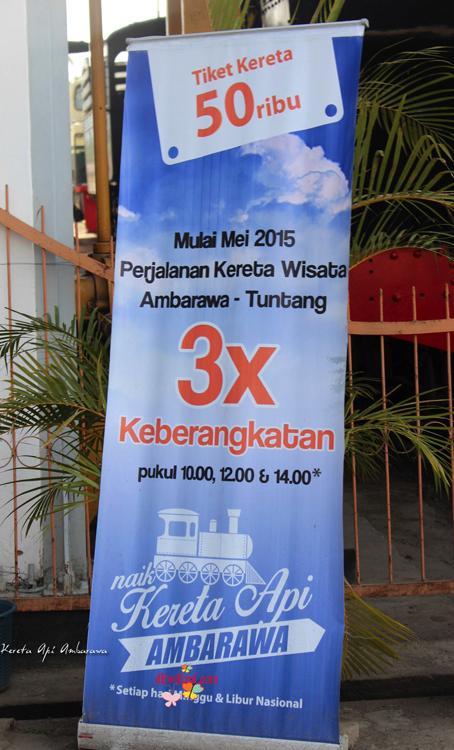 Jadwal kereta apai wisata tiket Ambarawa