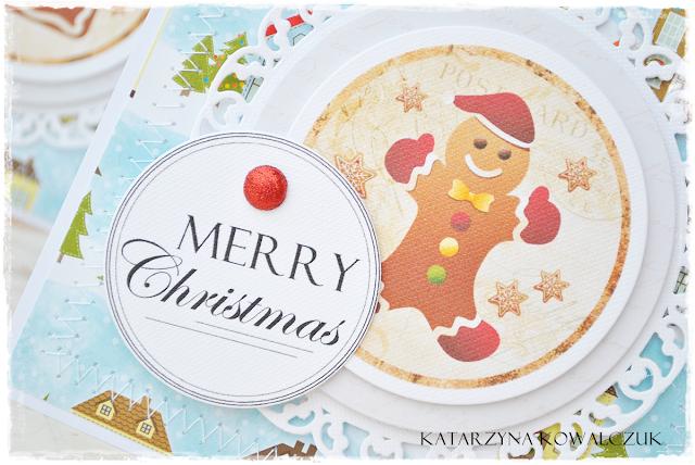 Kartka Świąteczna, bożonarodzeniowa, scrapbooking