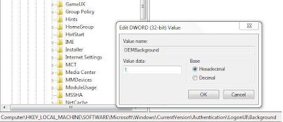 Customize the Windows 7 log-on screen