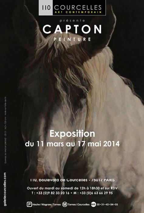LES PERCHERONS DE CAPTON A PARIS - EXPOSITION A LA GALERIE 110 COURCELLES