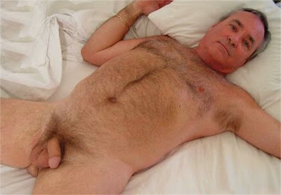 Hairy Silver Muscle Daddy